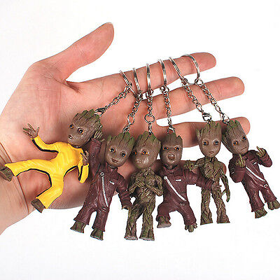 Usa Stock Guardians Of The Galaxy 2 Baby Groot Key Chain Figure Statue Toy Gift