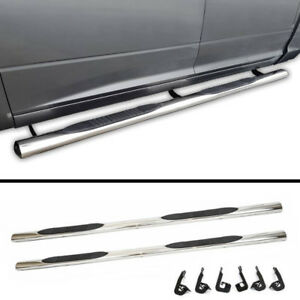 "NEW OEM Style 4"" Chrome Running Boards for 2007-18 Toyota Tundra"