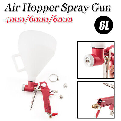 Professional Air Texture Hopper Gun Spray Gun Drywall Painting Tool W 3 Nozzles