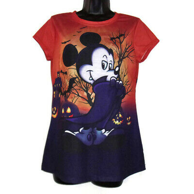 DISNEY HALLOWEEN Tee Junior L MICKEY MOUSE Pumpkins Jr 11 13 T Shirt Top