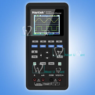 3in1 Handheld Digital Hantek Oscilloscope Signal Source Multimeter 70mhz Awg Usb