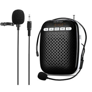 Voice Amplifier with Headset Microphone and Lavalier Microphone