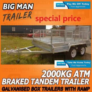 8x5 Ramp ☾ Tandem Trailers Equipped With Cage and Hot Dipped Galv Moorabbin Kingston Area Preview