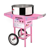 Commercial cotton candy machine with cart-used once