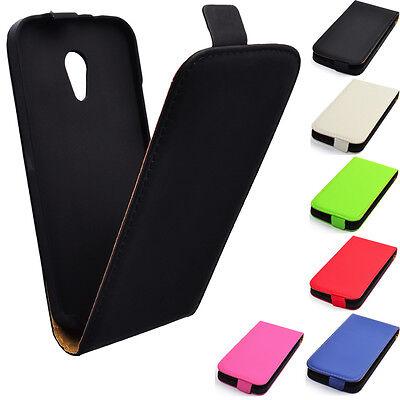 Hülle f Motorola Moto G2 Leder-Imitat Schutz Tasche Flip Case Cover Handy Smart (G2 Handy)