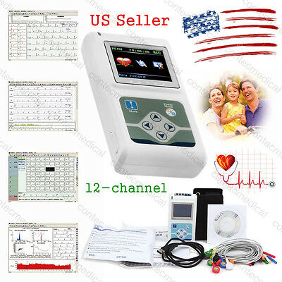 Tlc5000 Dynamic 12-channel 24h Ecgekg Holter System Recorder Software Analyzer
