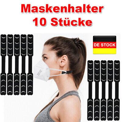 10 Pack Maskenhalter für Schutzmaske Schutz Mund Ohrenschoner TPU Nackenband DE