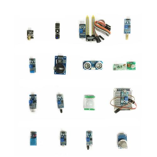 16pcs Sensor Module Kit Laser Ultrasonic IR DHT11 RTC For Ra