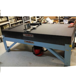COLLINS MICROFLAT PRECISION GRANITE SURFACE TABLE L8' X W4' X H