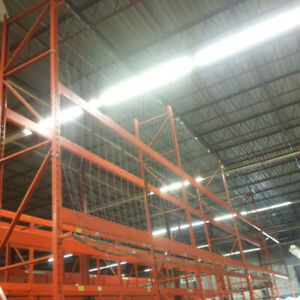 Used safety netting for pallet racking - 12' tall x 48' long