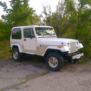 1990 Jeep YJ 4.2L comes  with extra frame