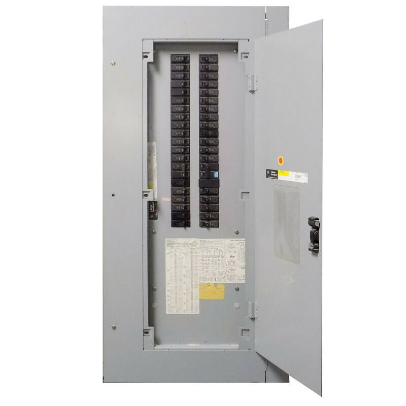 GE General Electric AQF3421MBX AXS5B4 125A Enclosure+Panel w/ (39) 20A Breakers