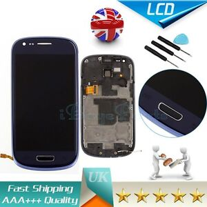 For Samsung Galaxy S3 Mini i8190 LCD Display Touch Digitizer + Frame Assembly UK