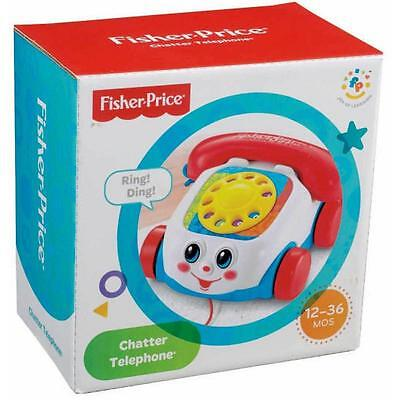Mattel Fisher-Price 77816 BB Plappertelefon Kinder  Spielzeug Telefon Nachzieh