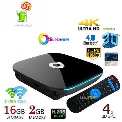 ✅ QBOX 2GB/16GB K 17.3 Amlogic S905X Mali-450 Android 6.0 Smart TV Dual WIFI