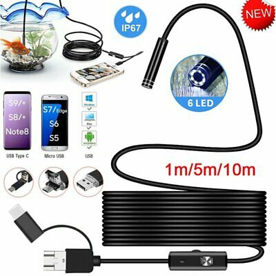 3-in-1 Inspection Camera Borescope Endoscope Usb Type-c For Android Phone Pc