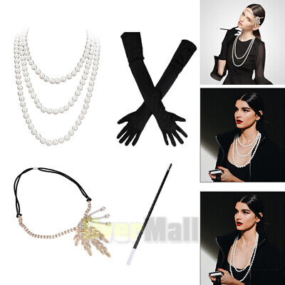Great Costumes For Women (1920S Great Gatsby Accessories Set For Women Costume Flapper Headpiece)