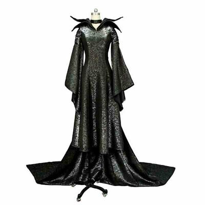 Maleficent Deluxe Evil Queen Cosplay Costume Halloween Outfit Fancy Dress Adult. - Evil Queen Cosplay