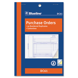 Purchase Order Books 2 Parts