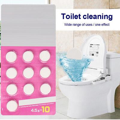 20Pcs Toiletten Chlor Reinigungs Tabletten Rohr Bagger Reiniger Deodorant ()