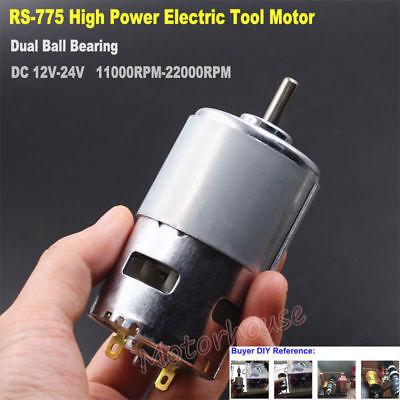 DC12V 18V 24V 22000RPM High Speed Power Electric Drill RS-775 Motor Large Torque