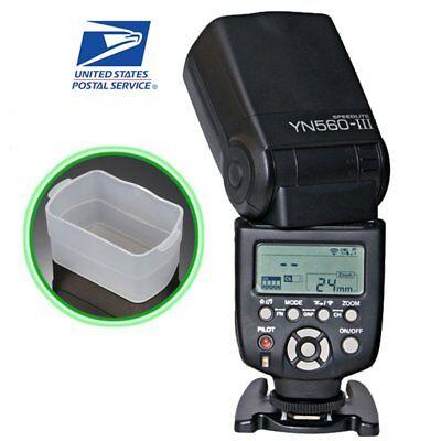 Yongnuo YN-560 III Wireless Trigger Speedlite Flash for Canon Nikon +diffuser US