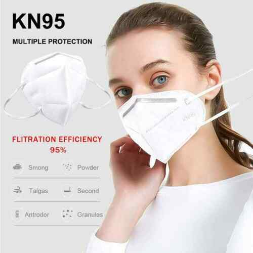50 Pack Kn95 Protective 5 Layers Face Mask Bfe 95% Pm2.5 Disposable Respirator