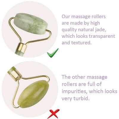 Dual Head Natural Jade Roller Massage Facial Face Neck Anti Ageing Beauty Tool
