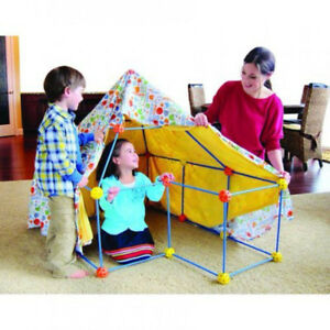 NEW:Discovery Kids 72 Pc Build & Play Construct Fort,Tent Tunne