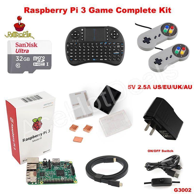 Computer Games - Raspberry Pi 3 Model B Retro Game Kit G3002
