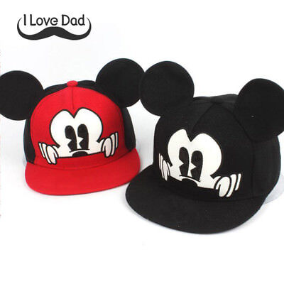 2018 Hot Mickey ear hat children snapback Caps baseball Funny spring summer  - Children's Baseball Caps