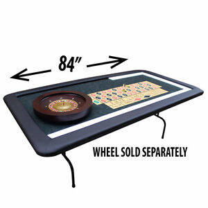 ROULETTE TABLE WITH FOLDING LEGS DYE SUBLIMATED CASINO FELT London Ontario image 2