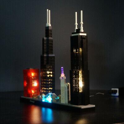 LED Light Kit for LEGO 21033 Architecture Chicago Willis Tower blocks model