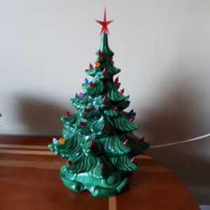 "Ceramic Christmas tree 17"" tall"