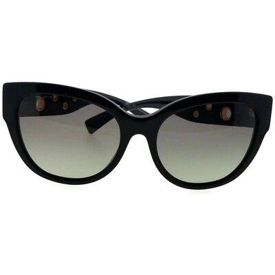 b0e80bf3e94 Versace VE4314-GB1-11 Butterfly Women s Black Frame Grey Lens Genuine  Sunglasses