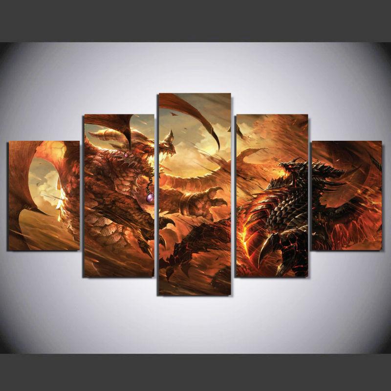 Framed Hd Canvas Wall Art World Of Warcraft Cataclysm