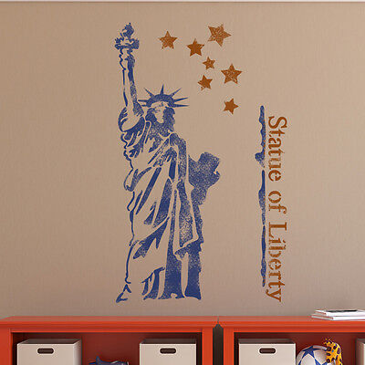 The Statue of Liberty Wall Stencil for Wall decor GRAFFITI better than wallpaper (Statue Of Liberty Stencil)