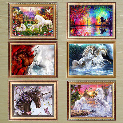 Horse 5 Horse (Horse 5D Diamond Painting DIY Embroidery Cross Crafts Stitch Home)