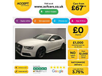 White AUDI A5 COUPE 1.8 2.0 TFSI Petrol SPORT S LINE FROM £67 PER WEEK!