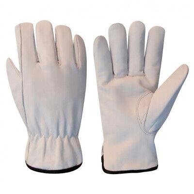 10 Dozen Driver Gloves Goat Skin Leather Work Safety Gloves Size L Ppe