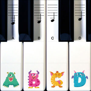 Monster Piano Stickers for Learning Piano or Keyboard