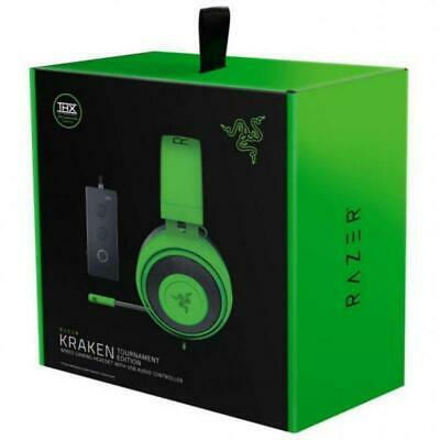 New Razer Kraken Tournament Edition Green Wired Headsets PC PS4 Xbox One