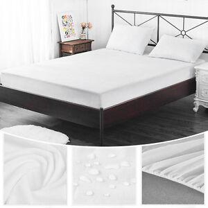 Queen-Single-Size-Mattress-Cover-Bed-Pad-Mat-Protector-Bamboo-Fiber-Waterproof