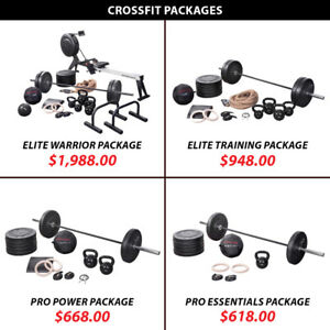Kettlebell Crossfit Package Set Barbell Weight Olympic Plate