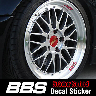 BBS Wheel Line Decal Sticker 5Color LG Hausys Sheet For All Vehicles