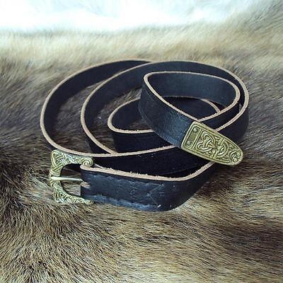 Viking Styled Medieval Leather Belt. Perfect for Re-enactment, Stage, Costume