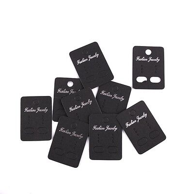 100pcs Black Kraft Earring Display Cards Fit Package Jewelry Size 3.24.5cm