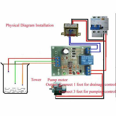 Liquid Water Level Controller Automatic Pumping Control Module Detection Sensor