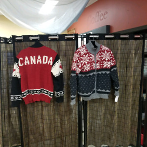 Wool hand knit lined jackets
