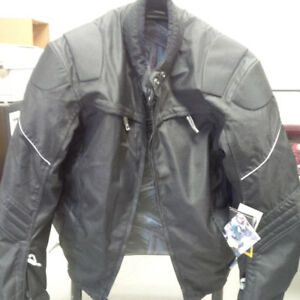 NEW MOTORCYCLE LEATHER JACKET WITH REMOVABLE PADDING